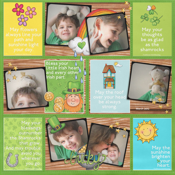 Kate Hadfield Designs Creative Team favourite spring project: layout by Rebecca