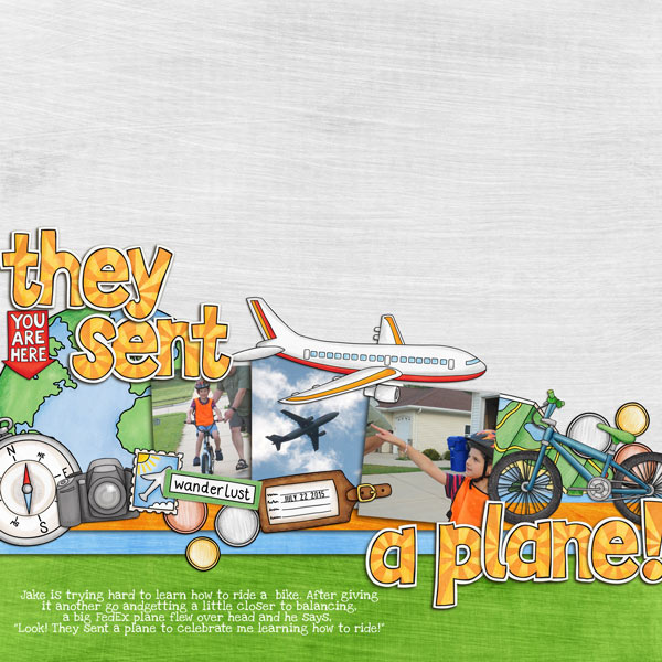 They Sent a Plane layout by Rebecca