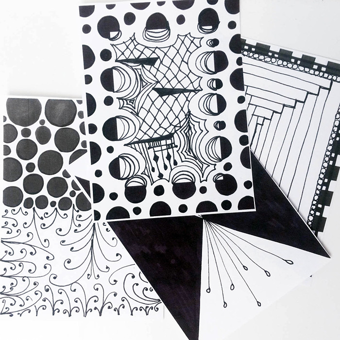 Kristina's Zentangle Starter pages: free printable pages to get you started tangling!