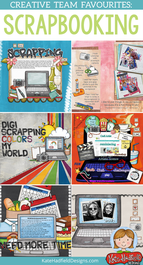 Kate Hadfield Designs Creative Team scrapbooking favourites