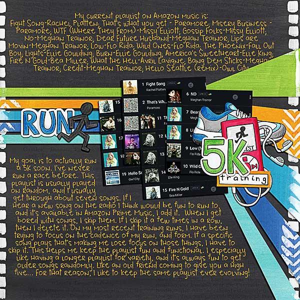 "Kate Hadfield Designs Creative Team ""Scrap Like Dagi"" FREE template | Digital scrapbook layout by Kristina"