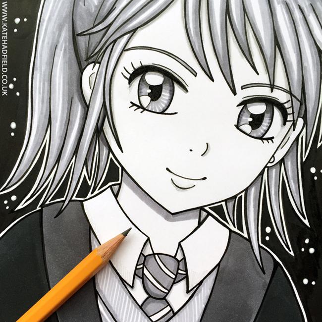 ScrawlrBox April Manga Me challenge 2 - Kate Hadfield Designs