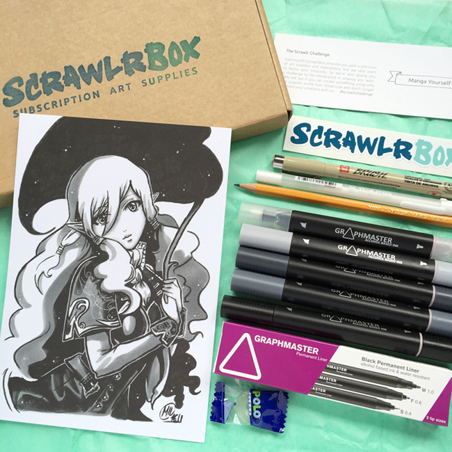 ScrawlrBox April contents - Kate Hadfield Designs