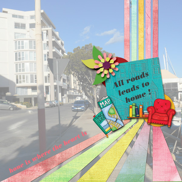 "Kate Hadfield Designs Creative Team ""Scrap Like Dagi"" FREE template | Digital scrapbook layout by Vvi"