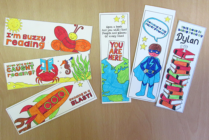 bookmark colouring craft for kids