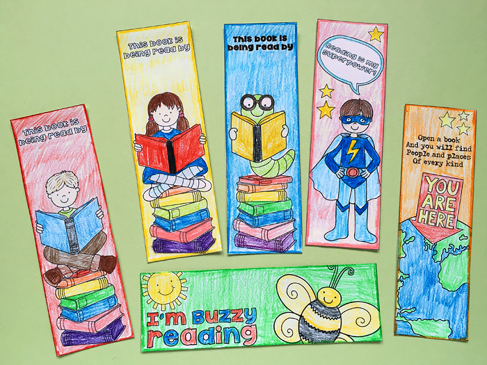coloured bookmark craft for kids