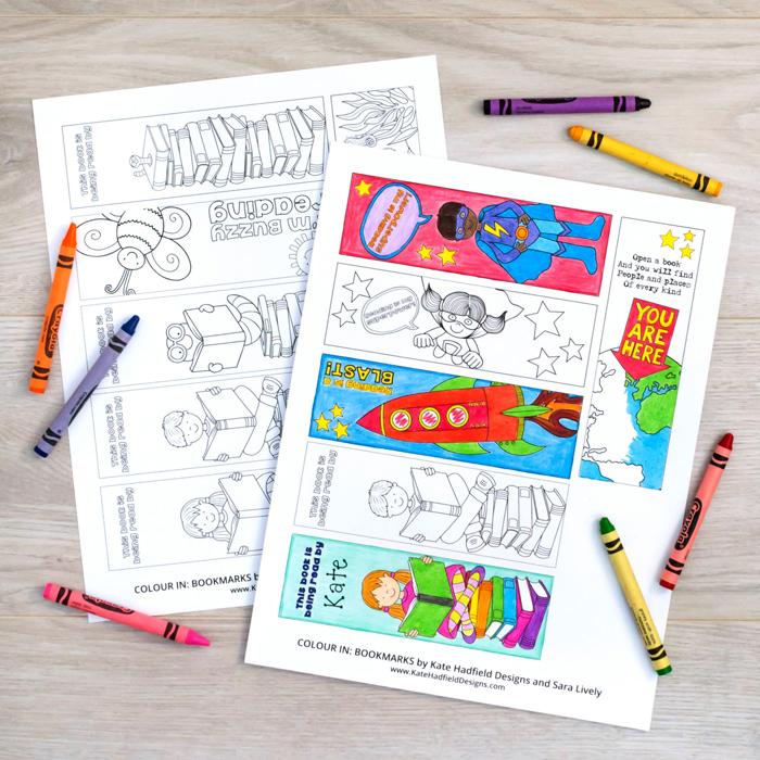 bookmark colouring sheets