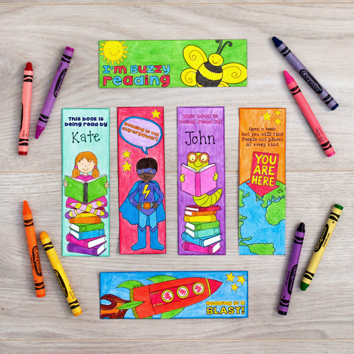 kid coloured bookmarks