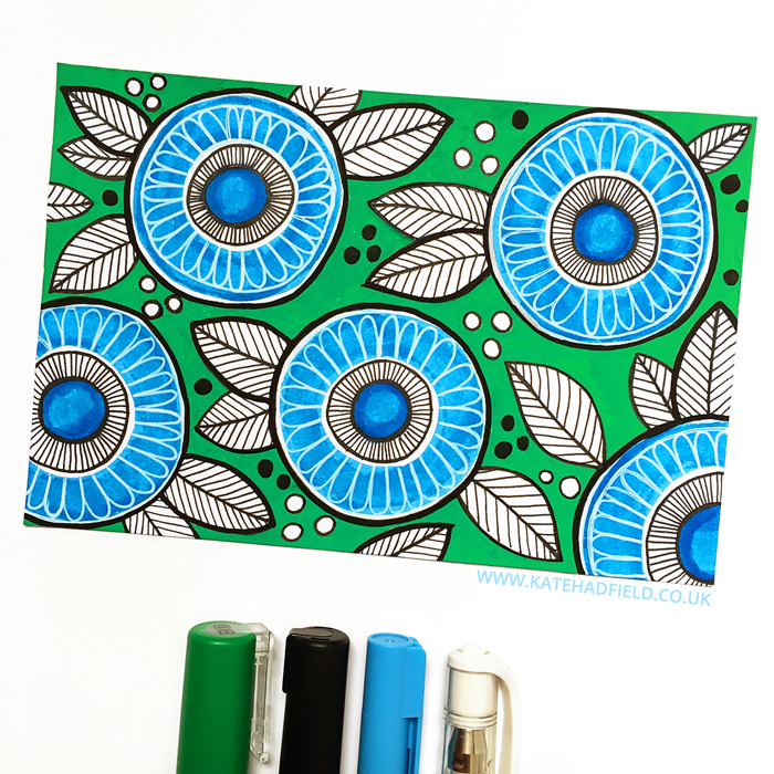 Index Card A Day Project - Kate Hadfield Designs