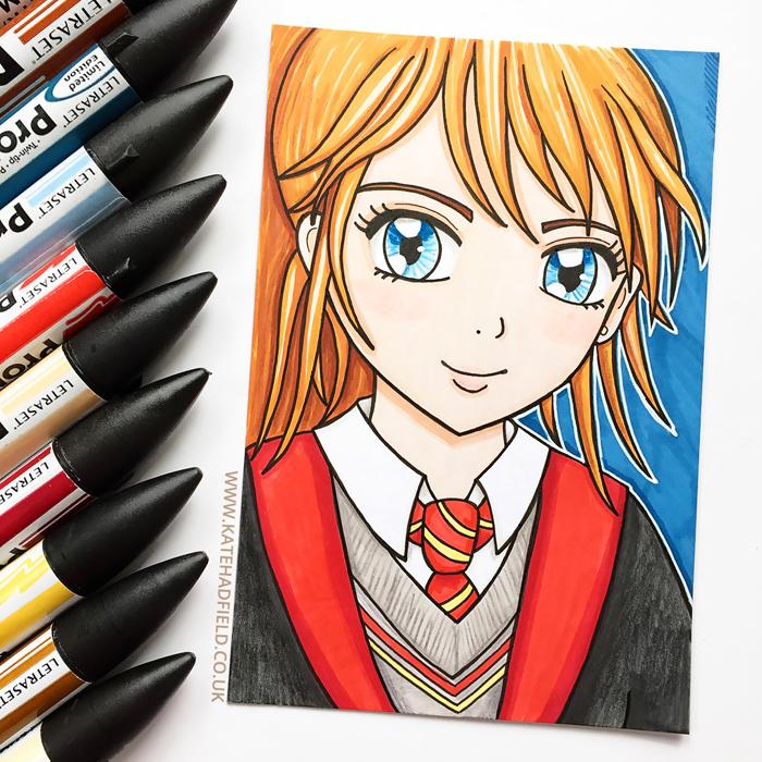 manga style drawing