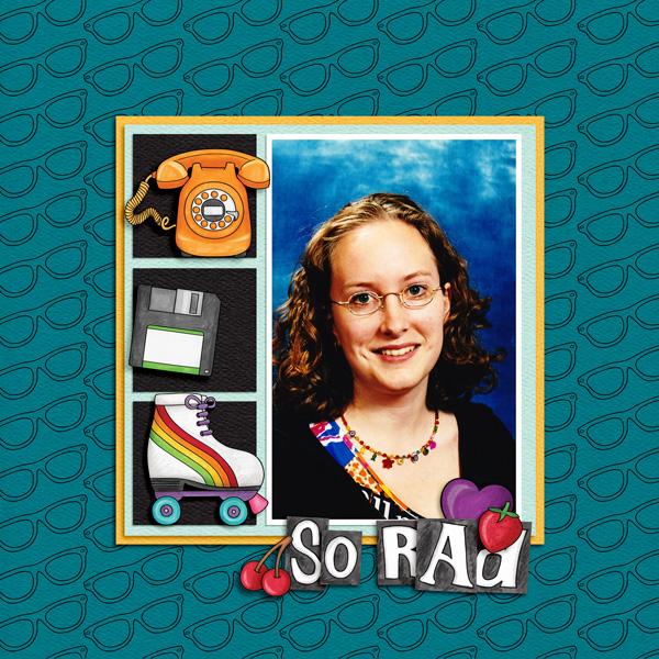 "Kate Hadfield Designs Creative Team ""Scrap Like Berniek"" FREE template | Digital scrapbook layout by Berniek"