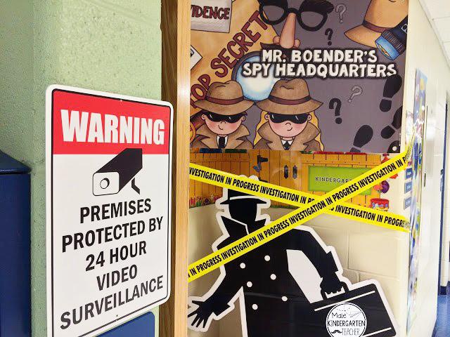 Spy Headquarters classroom display ~ Kate Hadfield Designs