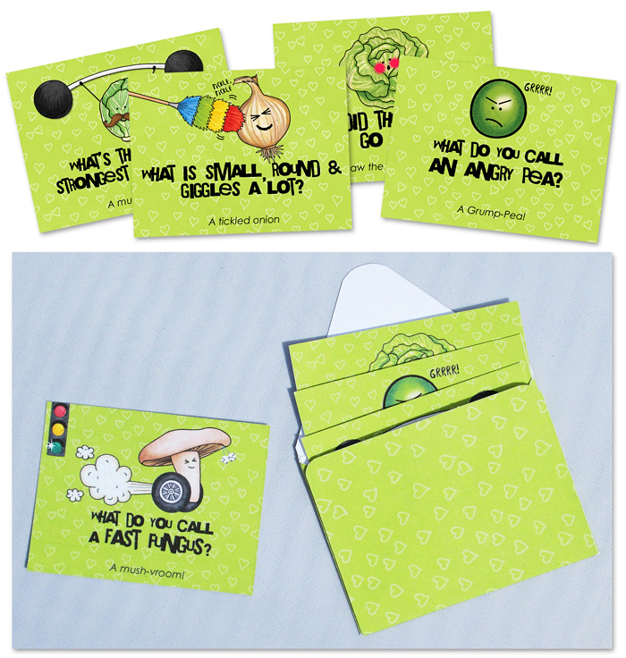 vegetable jokes lunch box notes