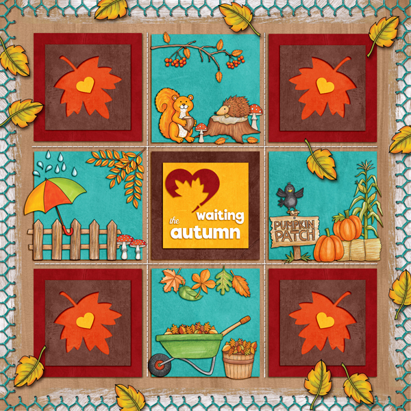 "Kate Hadfield Designs Creative Team ""Autumn & Fall"" Favourites: Digital scrapbook layout by Karen"