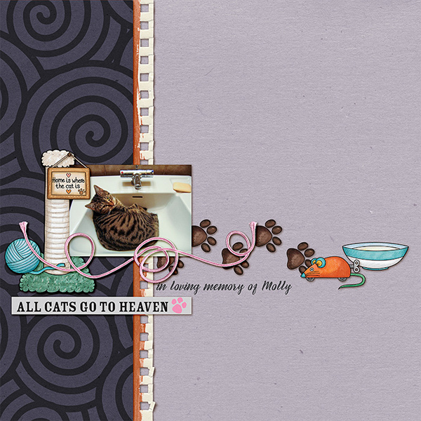 "Kate Hadfield Designs Creative Team inspiration: ""Here Kitty Kitty"" 