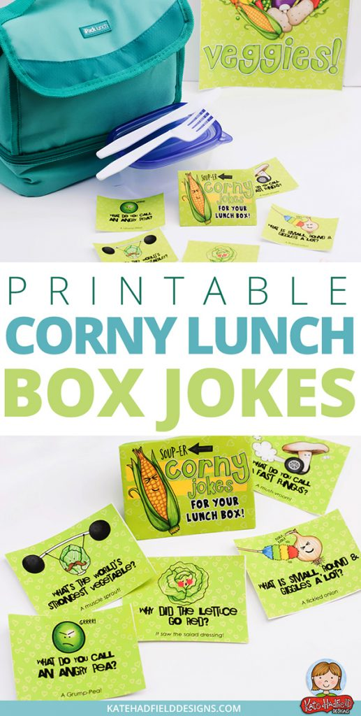 lunch box joke notes vegetable puns