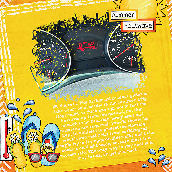 """Dashboard Readout"" digital scrapbook page by CT member Kristina"