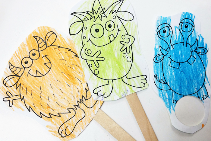 Monster finger puppets from Kate Hadfield Designs