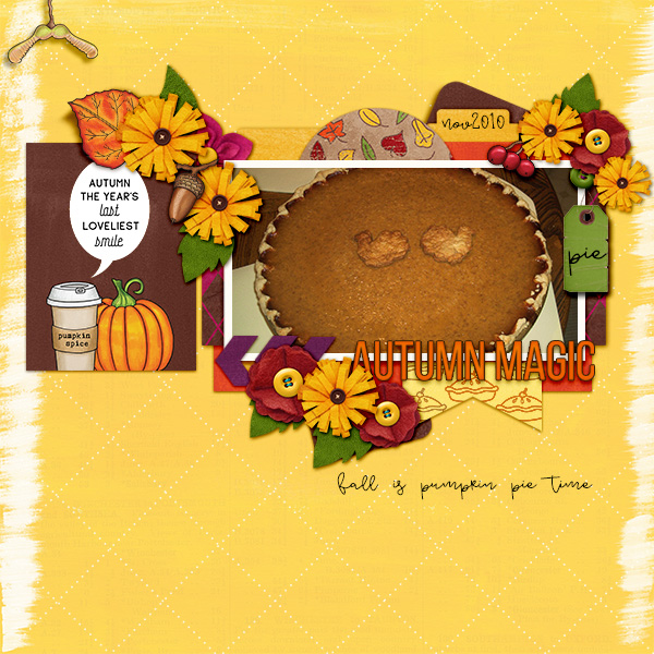 Ideas for Thanksgiving scrapbook pages! Kate Hadfield Designs Creative Team Thanksgiving Favourites: Digital scrapbook layout by Christa
