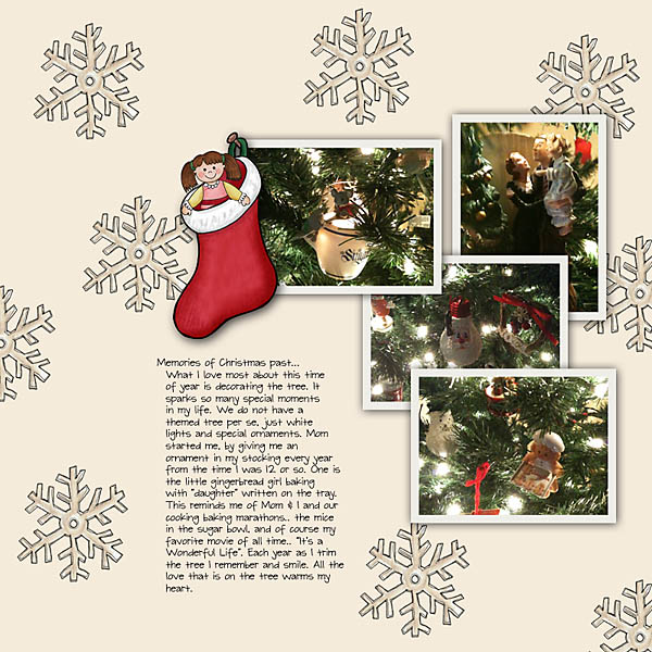 Christmas scrapbook layout created with digital scrapbooking kits from Kate Hadfield Designs – fun ideas for Christmas scrapbook pages! Layout by Creative Team member Christa