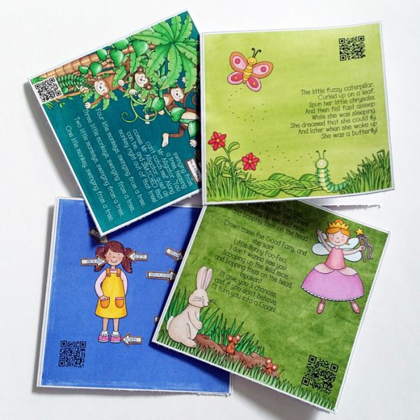 Hybrid Project: songs mini-book gift | #katehadfielddesigns