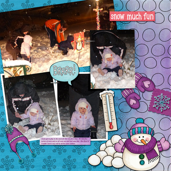 """Kate Hadfield Designs Creative Team """"January 2017"""" FREE digital scrapbooking template!   Scrapbook layout by Amy"""