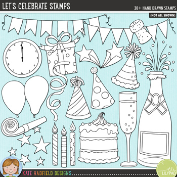 Let's Celebrate Stamps by Kate Hadfield Designs