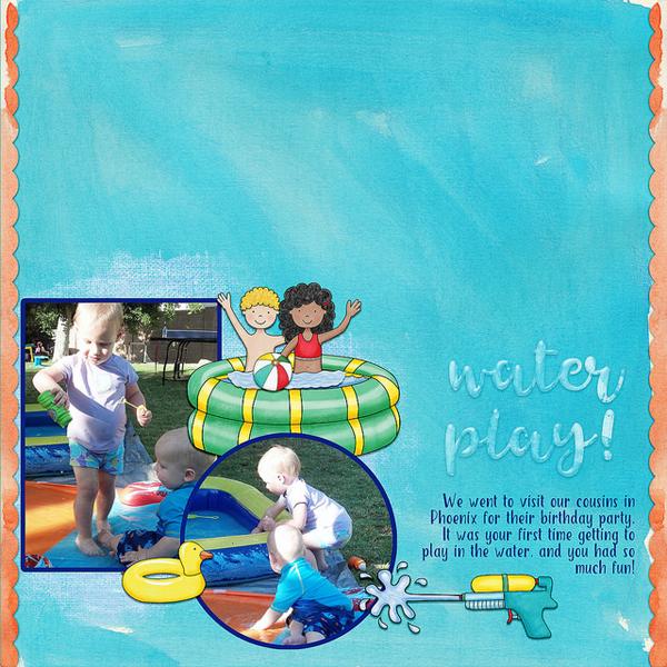 summer digital scrapbook layout