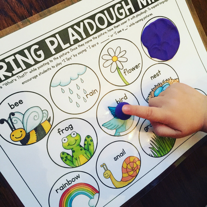 Spring basics speech therapy activities from Primary Punch | illustrations by Kate Hadfield Designs