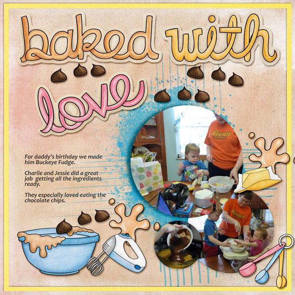 baking digital scrapbook page