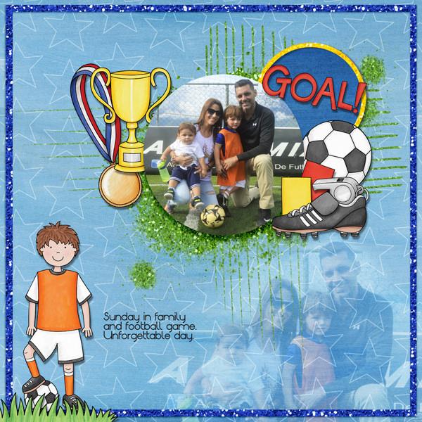 soccer digital scrapbook page