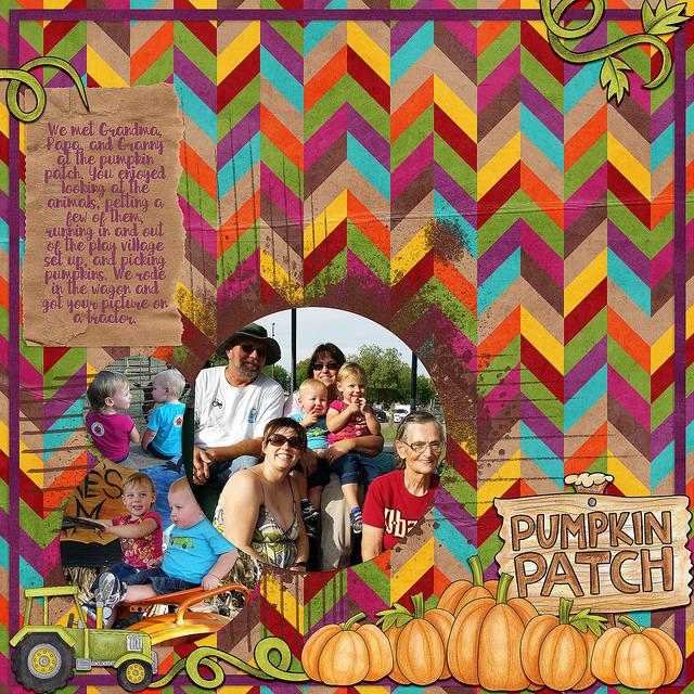 pumpkin patch digital scrapbook page