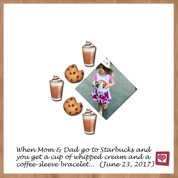 """Fun digital scrapbook page created with """"Coffee & Cupcakes"""" digital scrapbooking kit by Kate Hadfield Designs   ideas for scrapbook pages   layout by Creative Team member Jenni"""