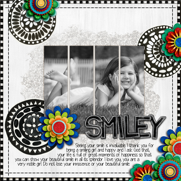 Digital scrapbook layout created with the FREE digital scrapbooking template from Kate Hadfield Designs!   layout by CT member Karen