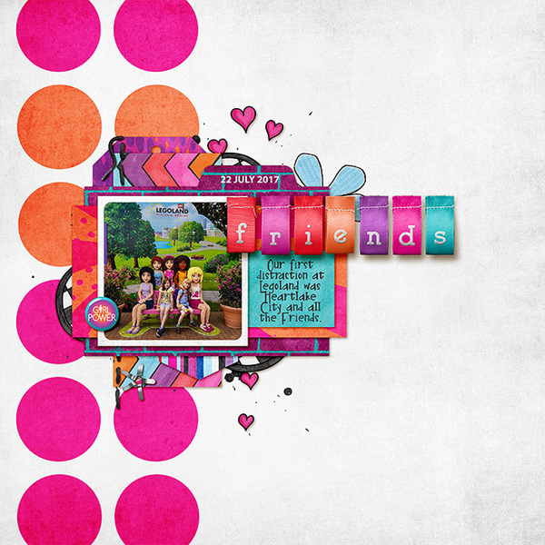 Teen girl scrapbook page created with 'Audaciously Awesome' digital scrapbooking kit by Kim Jensen and Kate Hadfield – fun ideas for scrapbook pages! Layout by Creative Team member Lorry