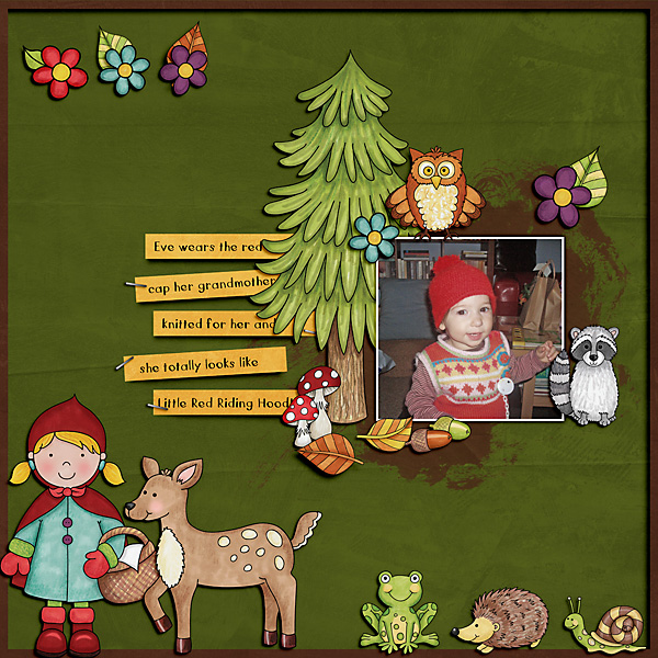 Digital scrapbooking page created with this month's free template from Kate Hadfield – fun ideas for scrapbook pages! Layout created by Creative Team member Cindy