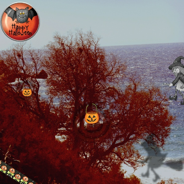Halloween scrapbook page created with digital scrapbooking kits from Kate Hadfield Designs – fun ideas for Halloween scrapbook pages! #digitalscrapbooking Layout created by Creative Team member Vivi