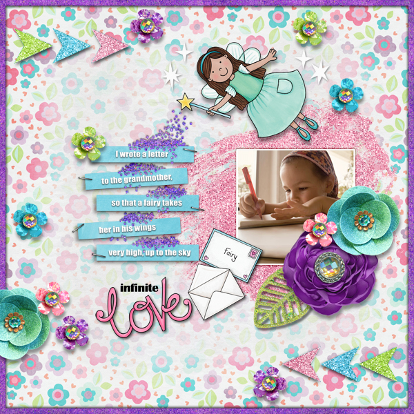 Digital scrapbooking page created with this month's free template from Kate Hadfield – fun ideas for scrapbook pages! Layout created by Creative Team member Karen
