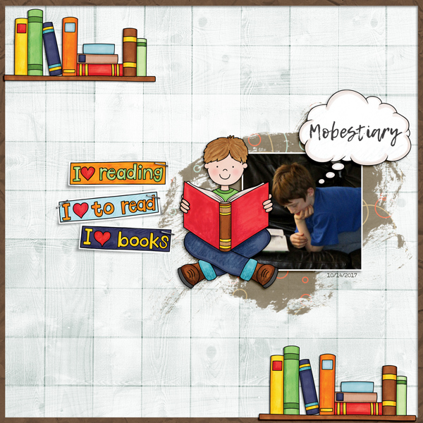 Digital scrapbooking page created with this month's free template from Kate Hadfield – fun ideas for scrapbook pages! Layout created by Creative Team member Molly
