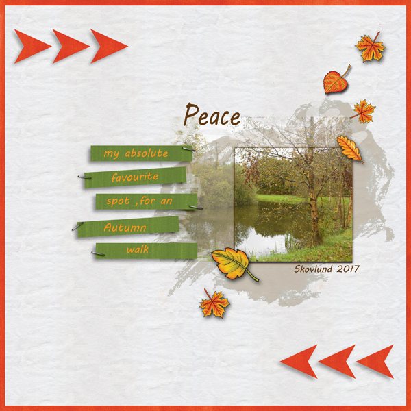 Digital scrapbooking page created with this month's free template from Kate Hadfield – fun ideas for scrapbook pages! Layout created by Creative Team member Vivi