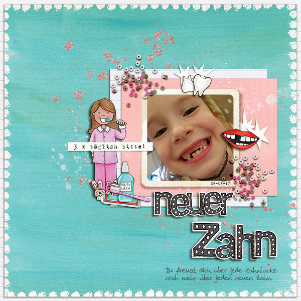 tooth fairy digital scrapbooking page