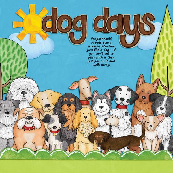 dog scrapbook layout by kirstie