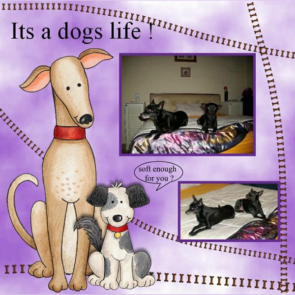 dog scrapbook layout by vivi
