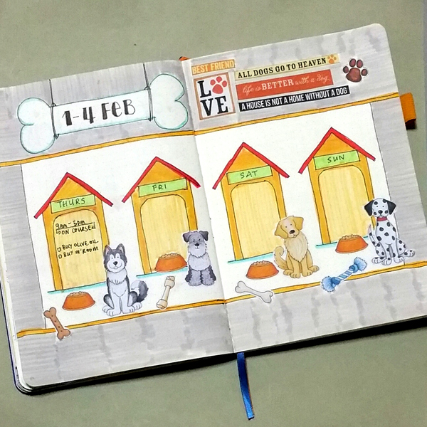 dog planner page by agnes