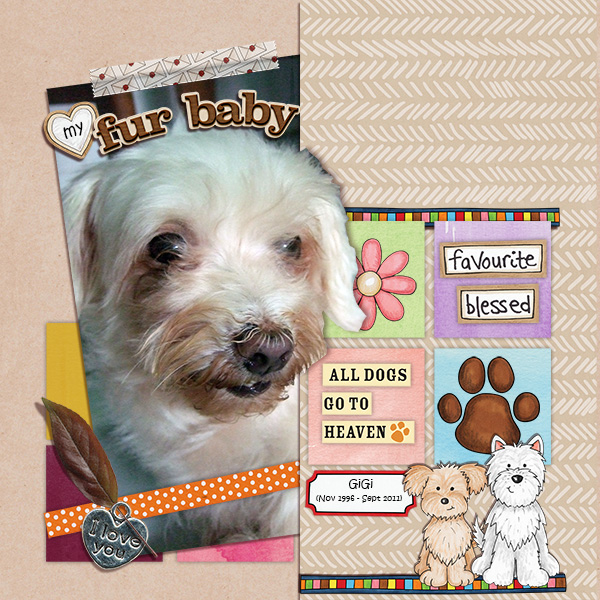 dog scrapbook layout by agnes