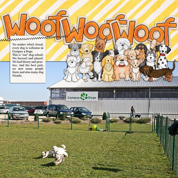 dog scrapbook layout by birgit