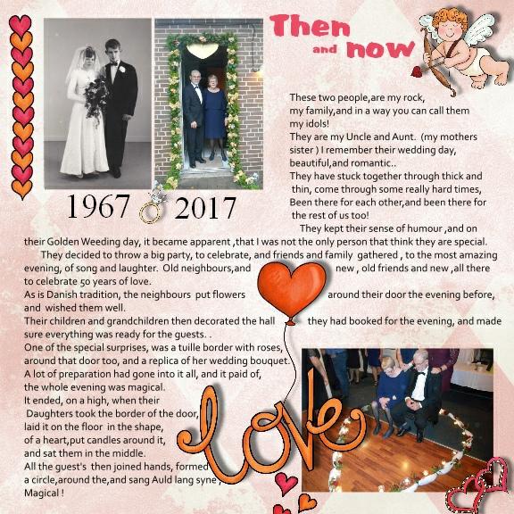 Valentine's digital scrapbook page by Vivi
