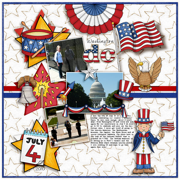 4th july scrapbook page