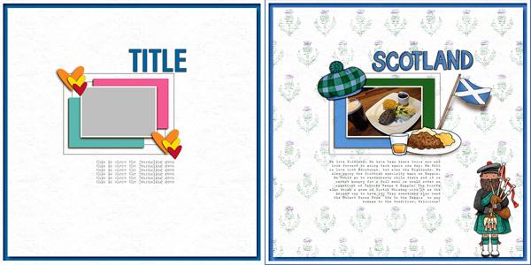 4 layered psd scrapbook templates ~ templates ~ creative market.