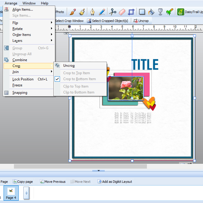 How To Use Digital Scrapbook Templates In Craft Artist Kate